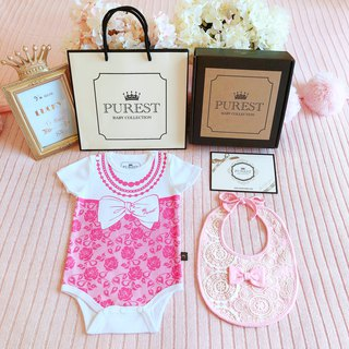 PUREST fashion little lady / short-sleeved gift box / baby newborn moon / birthday / gift preferred