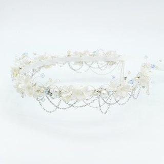 Pamycarie all handmade pearl color resin clay flowers wedding custom-made crowns