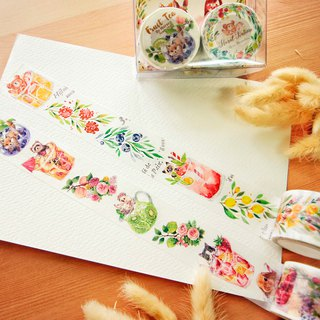 Maruco x Cat Big Summer Drink 3cm Paper Tape Kit (Free 2 Packs)