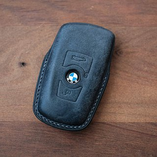 Car key holster handmade buttero BMW key ring gift in multiple colors / ji.co