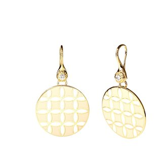 Op Art Victor Vasarely Cloisonne Earrings (gold) -18,103,151,088