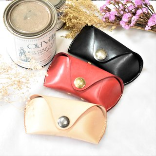 Leather glasses box can accommodate all kinds of glasses Sunglasses [can beat the English word] Planting leather [CarlosHuang Acacia]