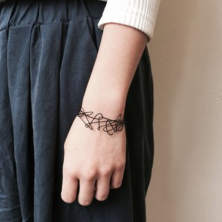Doodle bracelet / Line Drawing collection