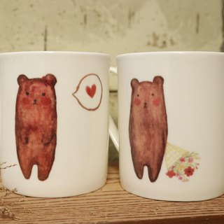 Valentine's Day gift bone china mark on the cup - confession bear on the cup for customization can add custom name / confession / cute / Valentine's Day / like you / microwave / SGS