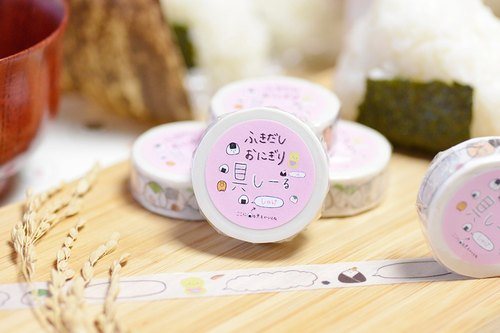 Rice ball designed masking tape.