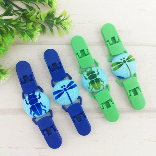 Boys love insects - stag beetles, dragonflies. Handkerchief folder / Universal clip / Toys clip / stud clip