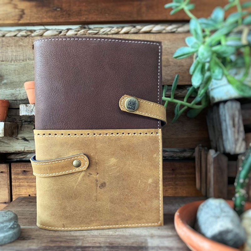 Record a good life gentleman handbook two-color stitching leather handmade