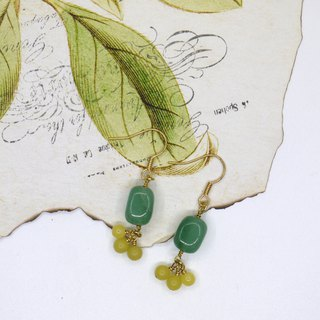 Dongling jade lemon earrings ear clip