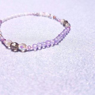Pink Amethyst x Tea Crystal x Blue Moonlight Moonstone | Crystallized Beautiful Beauty