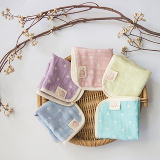 Hand-made rabbit bunny Wu Xiaofu organic cotton four-grain small handkerchief (optional two)