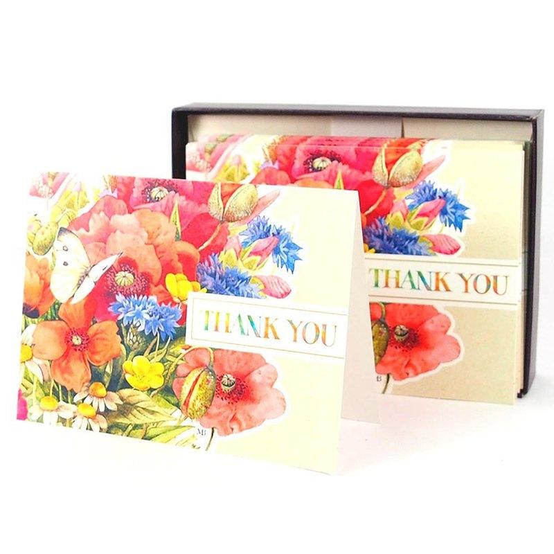 盒卡-繽粉彩色之花10入【Hallmark-卡片 無限感謝/多用途】