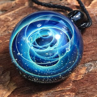boroccus  Solid  A galaxy  A nebula  The image design  Thermal glass pendant.