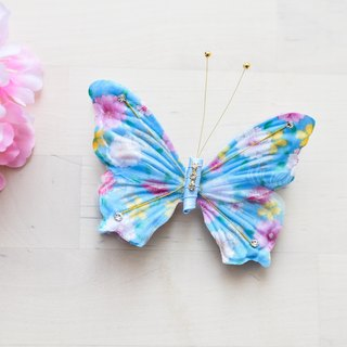Butterfly hair ornaments blue flowers section