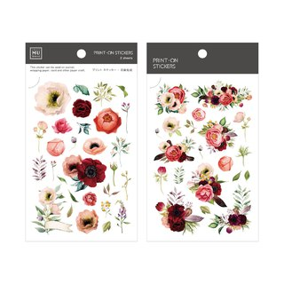 [Print-On Stickers]|Flower Series 54-嫣红花色| 手,DIY好朋友