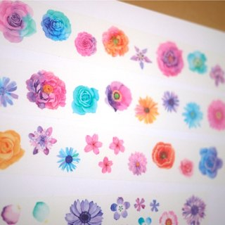 Based material - flowers watercolor paper tape (local light effect) -3.5cmx10M (90cm circle diagram) Hand necessary funds account