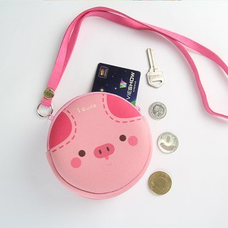 I money pink necklace purse full range - A3. Pig pig pink 齁 齁 D