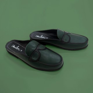 Glasses half-sandals - Green