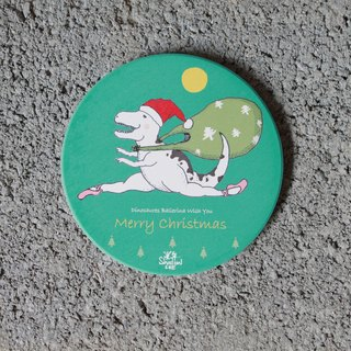 Ballet flying dragon Claus Christmas ceramic water coaster