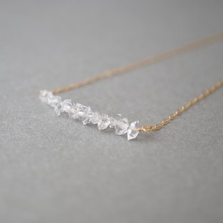 【14KGF】 Herkimer Diamond Line Necklace
