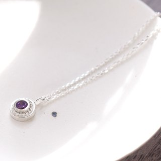 Amethyst Twist Necklace Silver 925