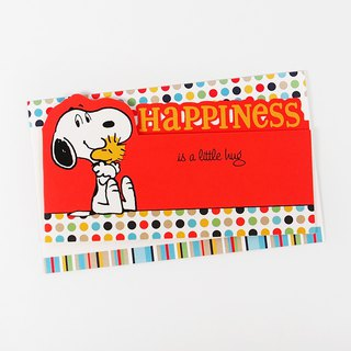 Snoopy happiness comes too suddenly [Hallmark-Peanuts stereo card multi-purpose]