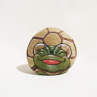 Little Turtle stone painting original art.