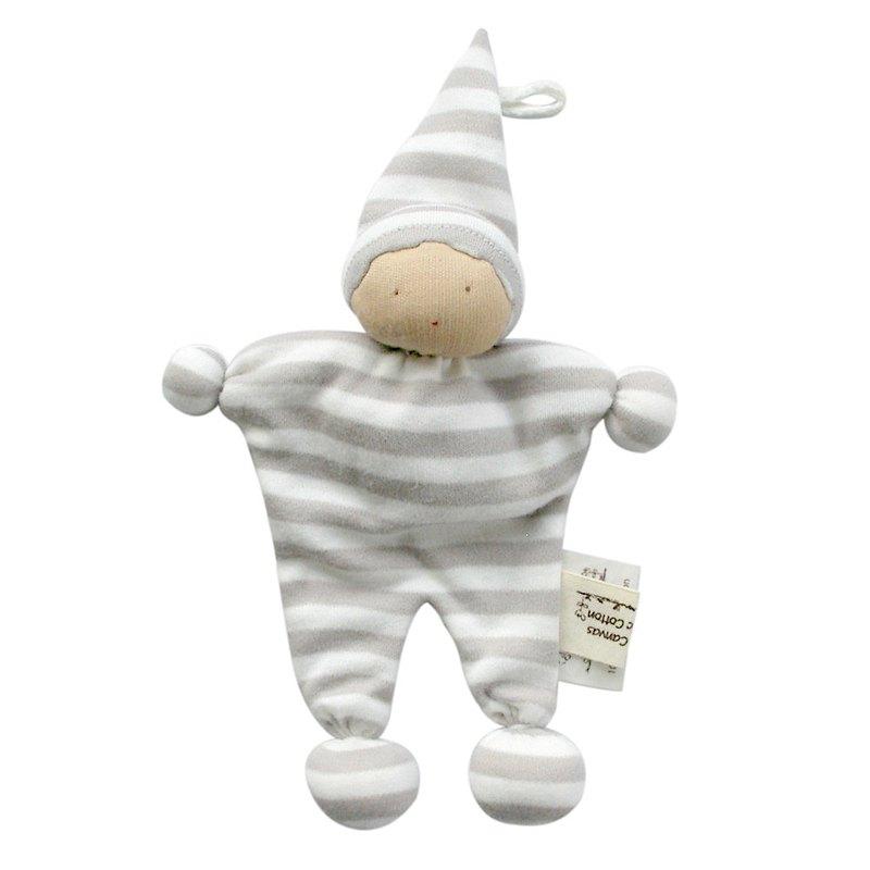 埃及製 有機棉安撫娃娃-寬灰條