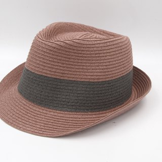 [Paper cloth home] two-color gentleman hat (grape purple) paper weave
