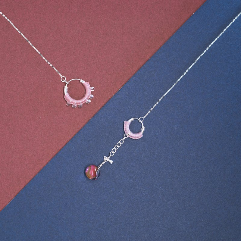 Time sets a dream necklace rose red