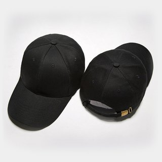 Korean version of the classic cotton hat black:: can be customized::