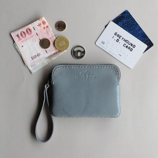 TRIPLET MINI - SMALL LEATHER COIN BAG- GREY