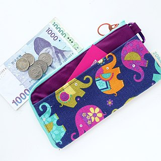 Travel Pouch (Colorful Elephants)