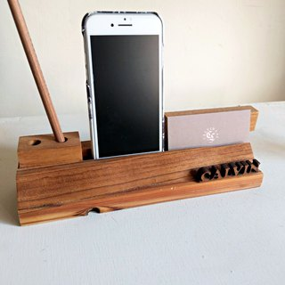 """CL Studio"" [modern simple - geometric style wooden mobile phone holder / business card holder] N30"