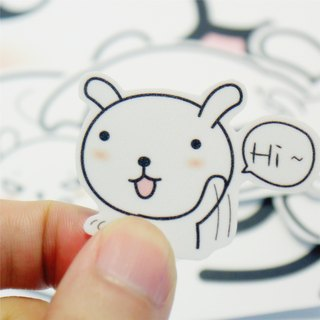 Bucute / trunk / waterproof PVC stickers / professional group / abroad / travel / waterproof sticker / illustration / Animal / Rabbit /