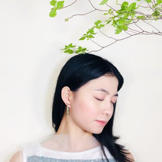 Minimalism - Jade 14kgf Earrings【Bamboo】II