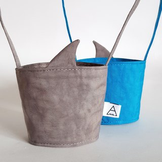 New iron ash shark fin / shark came to the eco-friendly drink cup bag / couple girlfriends Maji group/2 into
