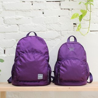 Mini water resistant backpack(12'' Laptop OK)-Purple_100180-40