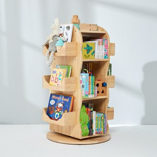 MesaSilla solid wood rotating storage bookcase