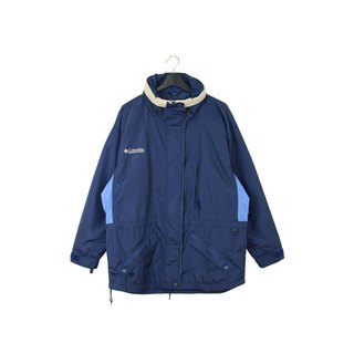 Back to Green :: Windbreaker cotton jacket Columbia navy blue // unisex / wear / vintage outdoor (CO-14)