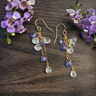 Handmade earrings wisteria wonderland