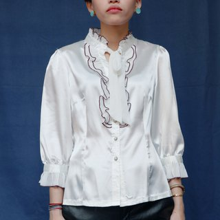Pumpkin Vintage. Ancient strappy chiffon shirt
