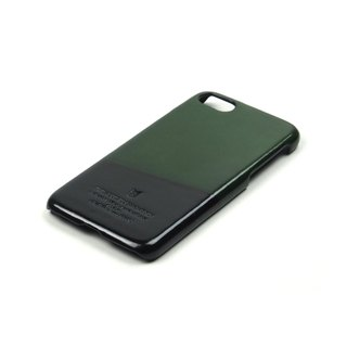Racket leather case iPhone 7 /Badminton (Green-Black)