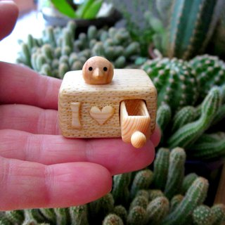 I Love You miniature drawer, wood carving miniature, wood art, Valentines gift