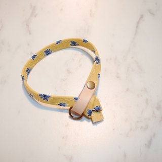 Cat Collars, Yellow blue flowers pattern_CCJ090408
