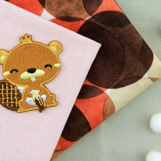 Love drawing squirrel self-adhesive embroidered cloth stickers - Forest cute animal series