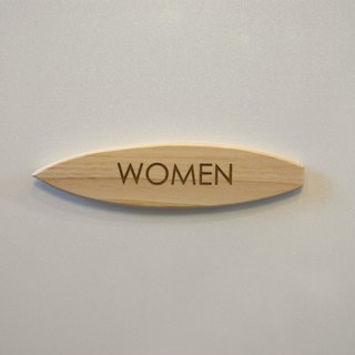 Surfboard plate for women only