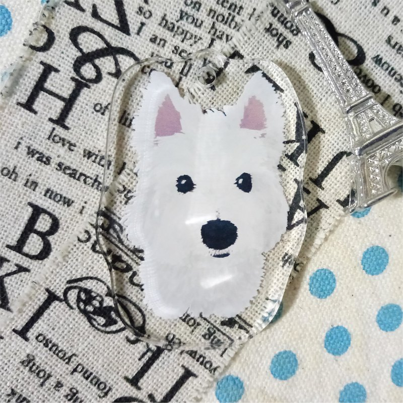Standing painting - West Highland White Terrier ~ acrylic strap