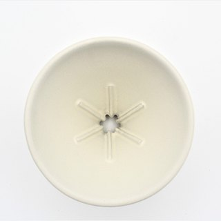 Off-the-shelf white taper six rib 01 filter cup