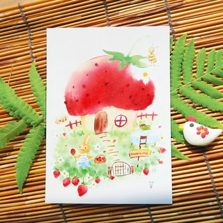 Dream hut no.2 / strawberry hut postcard