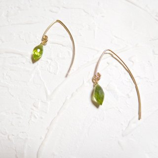 14K gold earrings elegant package Peridot